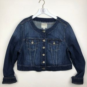 Torrid Cropped Denim Jean Jacket